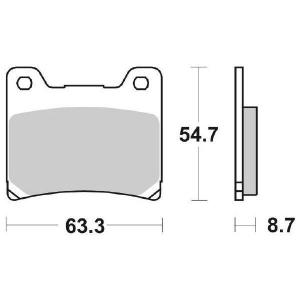 65.65550/8 PASTIGLIE CERAMICATE MOTO SBS 555 HF