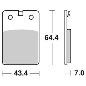 65.66050/8 PASTIGLIE CERAMICATE MOTO SBS 605