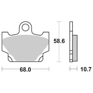 65.65500/3 PASTIGLIE CERAMICATE MOTO SBS 550 HF