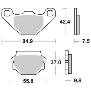 65.65460/0 PASTIGLIE CERAMICATE MOTO SBS 546 HF
