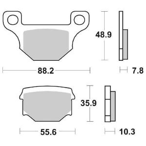 65.62030/4 PASTIGLIE CERAMICATE MOTO SBS 203 HF