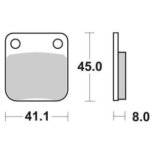 65.65360/0 PASTIGLIE CERAMICATE MOTO SBS 536 HF
