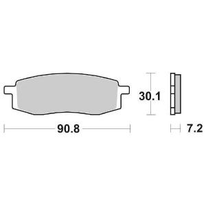 65.65800/7 PASTIGLIE CERAMICATE MOTO SBS 580 HF