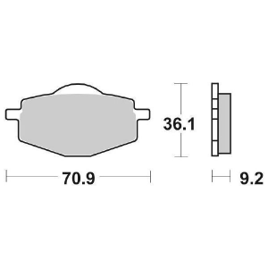 65.65750/4 PASTIGLIE CERAMICATE MOTO SCOOTER SBS 575 HF