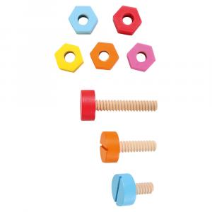 Cintura per attrezzi giocatolo per bambini con accessori in legno