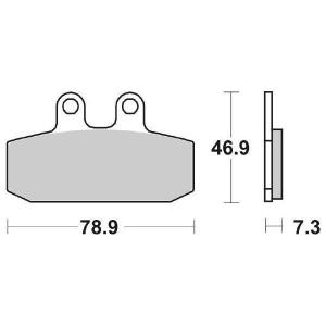 65.65880/9 PASTIGLIE CERAMICATE MOTO SBS 588 HF