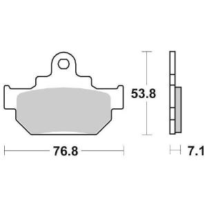 65.65810/6 PASTIGLIE CERAMICATE MOTO SBS 581 HF