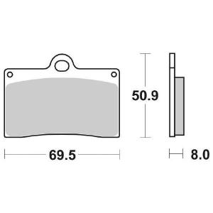65.65660/5 PASTIGLIE CERAMICATE MOTO SBS 566 HF