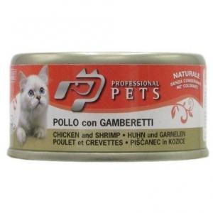 PROFESSIONAL PETS GATTO POLLO E GAMBERETTI 70 GR