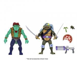 Teenage Mutant Ninja Turtles: Action Figures Animated Series - Wave 3 Leather Head & Slash by Neca