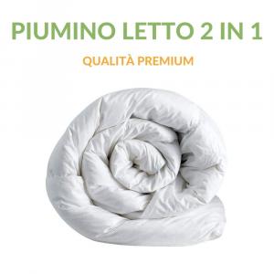Piumino Letto 4 Stagioni, Invernale Estivo con Imbottitura 100% Poliestere, Fodera in Microfibra, Anallergico e Lavabile in Lavatrice