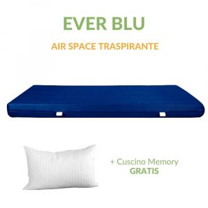 Materasso in Waterfoam Ortopedico alto 15 cm con Cuscini in Memory Foam in Omaggio con  Rivestimento in AIR SPACE tessuto Traspirante | EVER BLU