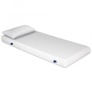 Materasso EVER Bianco in Waterfoam ORTOPEDICO alto 15 cm con Cuscini in Memory Foam GRATIS Rivestimento in AIR SPACE tessuto Traspirante Antiacaro per tutti Letti o Reti