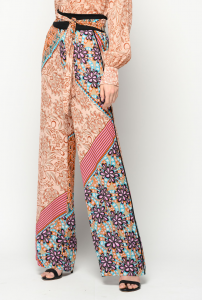 SHOPPING ON LINE PINKO PANTALONI STAMPA PATCHWORK STRACOTTO NEW COLLECTION WOMEN'S SPRING SUMMER 2020
