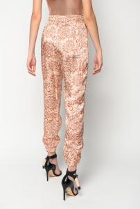 SHOPPING ON LINE PINKO PANTALONI STAMPA FIORE ETNICO SOFFRITTO NEW COLLECTION WOMEN'S SPRING SUMMER 2020