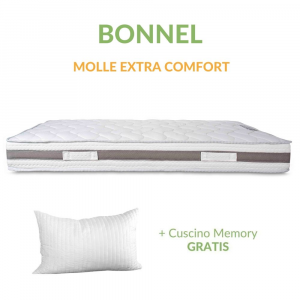 Materasso a Molle in Acciaio e Waterfoam Ortopedico tessuto Anallergico H24 con Cuscini in Memory Foam GRATIS | Bonnel