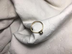 Anello 'Castoncino' Oro9k Giallo/Diamante