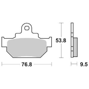 65.65820/5 PASTIGLIE CERAMICATE MOTO SBS 582 HF