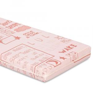 Materasso Lettino o Culla per Bambini alto 12 cm colore Rosa + Cuscino Antisoffoco su misura Gratis con Fodera in Cotone Naturale, Rivestimento Sfoderabile con Zip e Lavabile in lavatrice | Minny