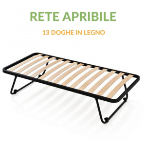 Rete a doghe Singola 80x190 cm Letto Apribile Salvaspazio con Gambe Pieghevoli | BASIC