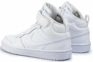 Nike Court Borough Mid 2 Sneaker Bambino CD7782-100 WHITE/WHITE