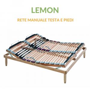 Rete a Doghe in Legno con Alzata Manuale Testa Piedi | Lemon | Prezzi a partire da