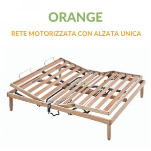 Rete a Motore Doghe in Legno Alzata Unica Ortopedica | Orange | Prezzi a partire da