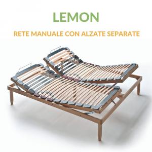 Rete in Legno Matrimoniale con Alzate Manuali indipendenti | Lemon | Prezzi a partire da