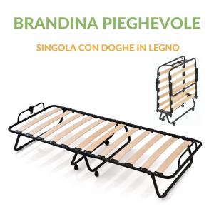 Brandina Pieghevole a Doghe in Legno 80x190