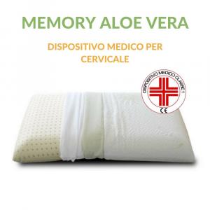 Cuscino Memory tessuto ALOE VERA
