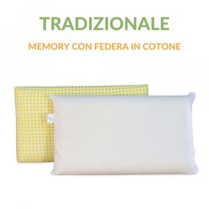 Coppia Cuscini Memory con Federa in Cotone