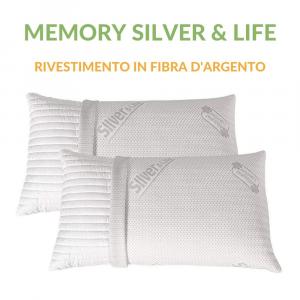 Coppia Cuscini Memory con rivestimento Silver & Life