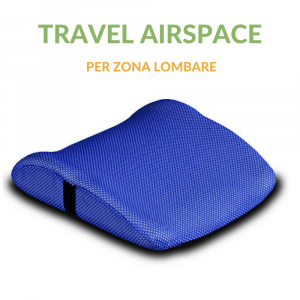 Cuscino Lombare Travel con tessuto AirSpace