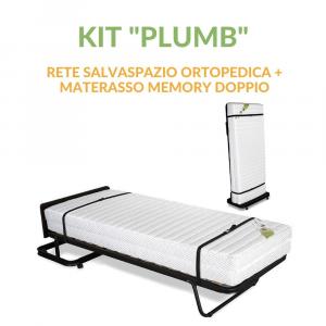 Kit Rete Ortopedica Salvaspazio con Materasso Singolo Memory Doppio Utilizzo | Kit Memory Plumb