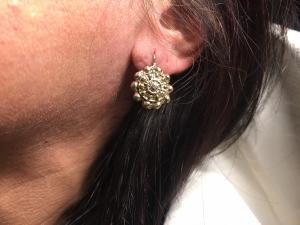 Orecchini Sole in Bronzo con Diamantino