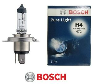1987302041 LAMPADINA H4 BOSCH 12V 60/55W PURE LIGHT