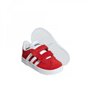 Adidas Vl Court 2.0 Coral Red Junior