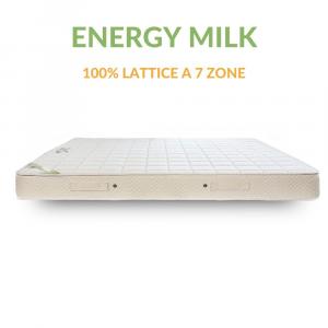 Materasso Matrimoniale 100% Lattice con lato estivo/invernale alto 16 cm ENERGY MILK