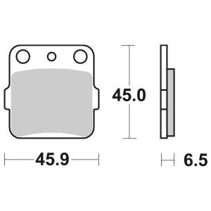65.65840/0 PASTIGLIE FRENO CERAMICATE MOTO SBS 584 HF