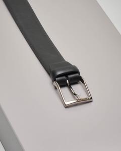 Cintura nera in pelle opaca