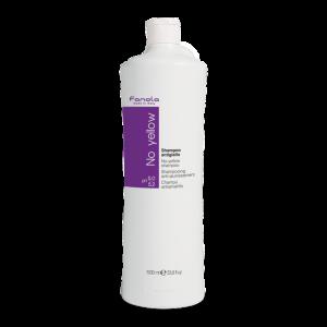 Fanola Shampoo No Yellow  1000ML per la neutralizzazione del giallo indesiderato per capelli decolorati, biondi, mèches, grigi