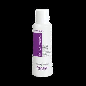 Fanola Shampoo No Yellow 100ML per la neutralizzazione del giallo indesiderato per capelli decolorati, biondi, mèches, grigi