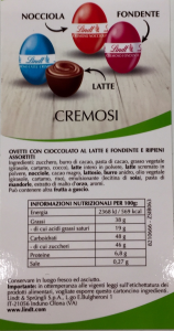 Ovetti pasquali Cremosi assortiti 500 g. - Lindt & Sprungli