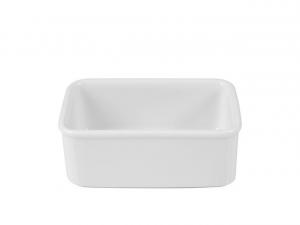 Portabustine da tè e zucchero in porcellana bianca cm.11x7