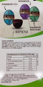 Ovetti pasquali ripieni fondente 500 g.- Lindt & Sprungli