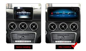 ANDROID monitor 10.25 navigatore per Mercedes Classe A W176, Classe GLA X156, Classe CLA C117 NTG 5.0 GPS WI-FI Bluetooth MirrorLink 4GB RAM 64GB ROM Octa-Core 4G LTE