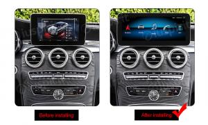 ANDROID monitor 10.25 navigatore per Mercedes Classe C W205 Classe GLC X253 Classe V W446 NTG 5.0 GPS WI-FI Bluetooth MirrorLink 4GB RAM 64GB ROM Octa-Core 4G LTE
