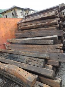 Traversine di recupero cm 15x25x250 per contenimento terra