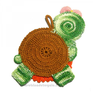 Presina lumaca ad uncinetto 12x20.5 cm - Handmade in Italy