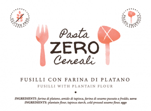 ZeroCereale Rigatoni with Platano Flour. No Gluten - No Legumes - No Dairy Products